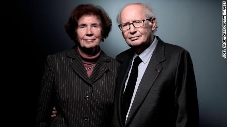 French lawyer and activist Serge Klarsfeld, right, and his wife, French-German journalist and activist Beate Klarsfeld, on November 22, 2017.