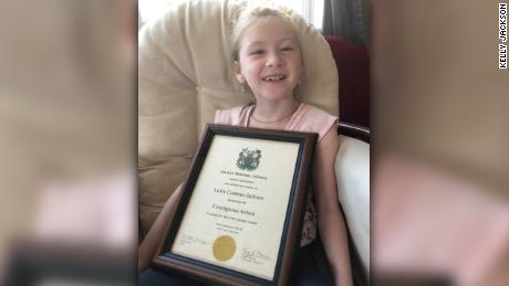 The city's  Regional Council recognized Lexie as a hero on Wednesday.