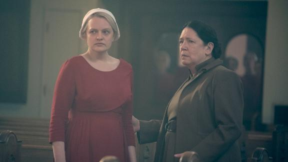 """Our pick: """"The Handmaid's Tale"""" <br />In what feels like a battle of the titans, """"The Handmaid's Tale"""" -- and its powerful second season -- is the smart-money choice to repeat its 2017 win, despite facing """"Game of Thrones,"""" which was honored the two previous years before missing the last window. One suspects voters will be hard-pressed to avoid recognizing the HBO show for its upcoming final season, a bit of sentimentality that also makes the Russians -- that is, """"The Americans,"""" with its sensational series finale -- a wild card in this year's voting. As a consolation prize, the FX show is likely the frontrunner in the drama writing category.<br />Other nominees: """"Game of Thrones,"""" """"Stranger Things,"""" """"The Americans,"""" """"This Is Us,"""" """"Westworld<br />"""