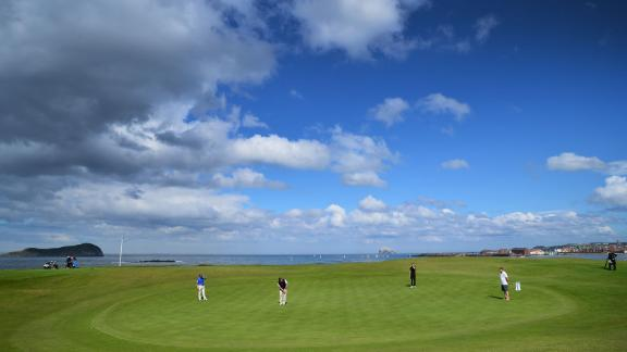 """North Berwick: Along the coast from Muirfield lies a quirky, historic masterpiece with views over Bass Rock and an upturned """"reddan"""" style green that has been copied the world over."""