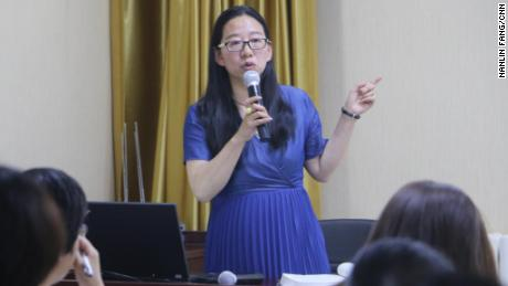 Zeng Xiaoyan gives a lecture about hymens and stereotypes about women during a sex education training course in China.