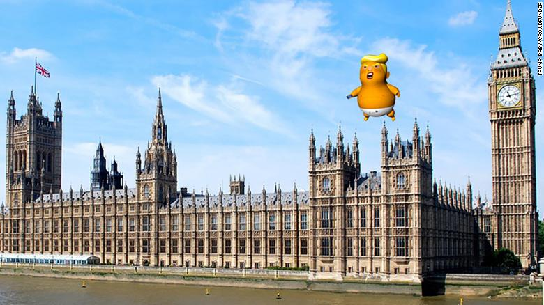 "A six-meter ""Trump baby"" balloon will fly at the London protest."