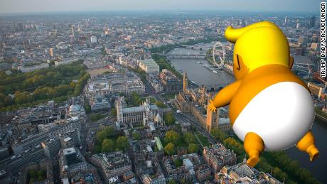 "Protest organizers hope to fly a ""Trump Baby"" balloon over London during the US President's stay."