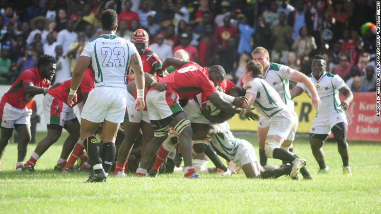 Zimbabwe in action against Kenya on June 30.