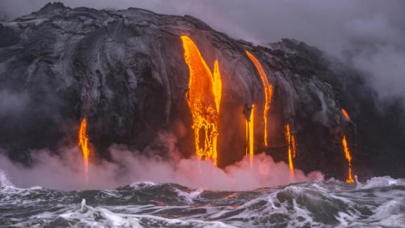 Kilauea volcano erupted early May, and giant lava flows swallowed more than 700 homes.