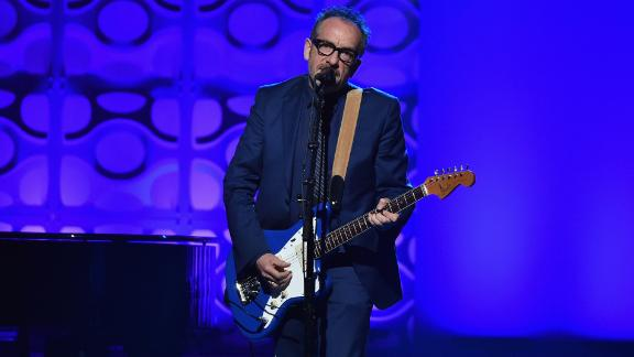 Elvis Costello performs onstage during the Songwriters Hall Of Fame 47th Annual Induction And Awards at Marriott Marquis Hotel on June 9, 2016, in New York City.