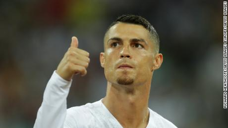 Cristiano Ronaldo of Portugal during the 2018 FIFA World Cup Russia Round of 16 match between Uruguay and Portugal at Fisht Stadium on June 30, 2018.
