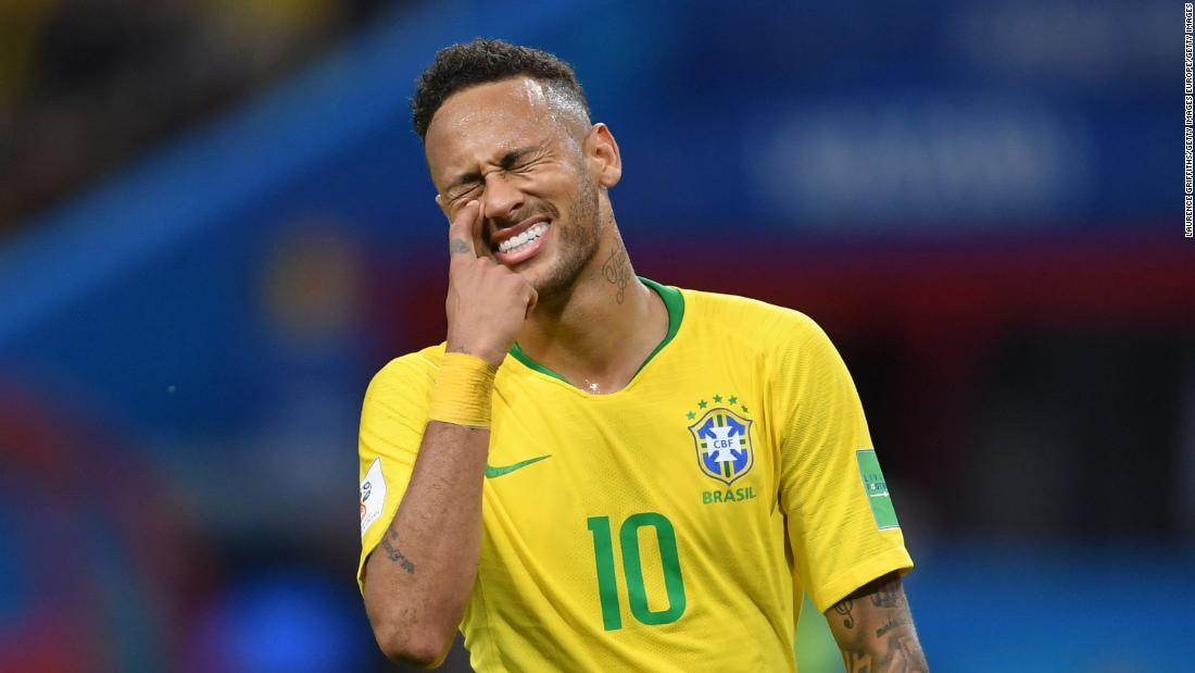 Neymar World Cup Theatrics Spark Worldwide Ridicule Cnn