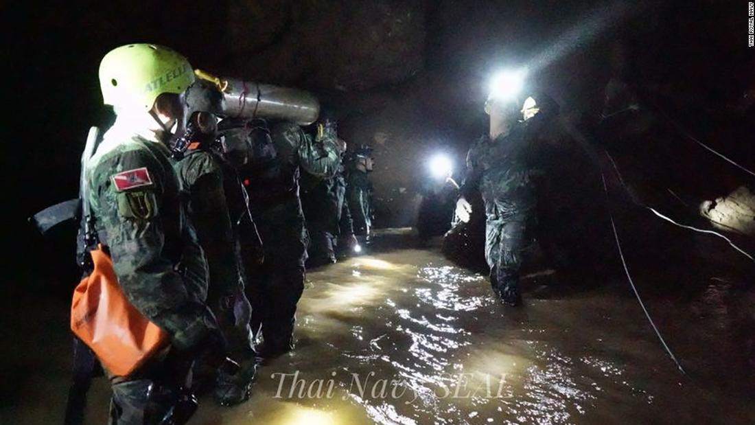 Thai cave rescue suspended for the day after four more boys freed