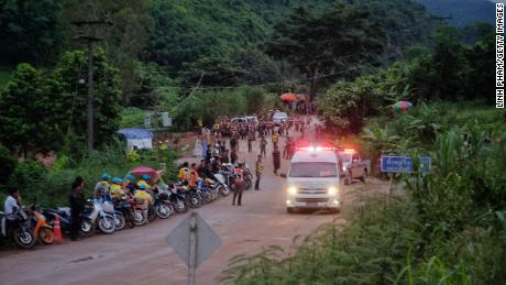 Rescuers up against 'water and time' to save remaining teammates trapped in Thai cave