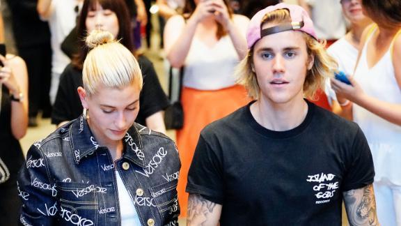Justin Bieber and Hailey Baldwin in New York