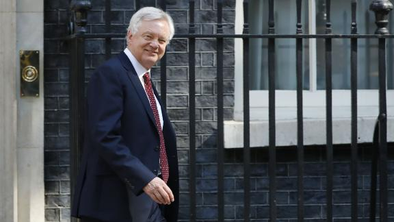 Britain's Secretary of State for Exiting the European Union (Brexit Minister) David Davis leaves 10 Downing Street in central London after attending the weekly cabinet meeting on July 3, 2018. (Photo by Tolga AKMEN / AFP)        (Photo credit should read TOLGA AKMEN/AFP/Getty Images)
