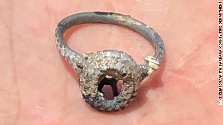 Laura's scorched ring.