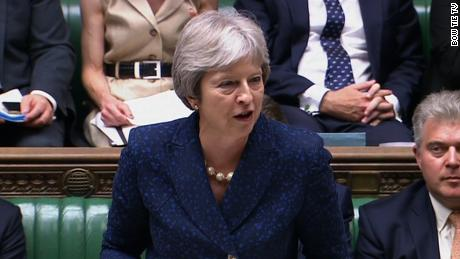 Hear Parliament react as May thanks Johnson