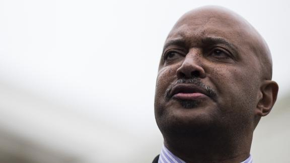 Curtis Hill, Indiana attorney general, speaks during a press conference following a meeting with U.S. President Donald Trump, not pictured, on school safety at the White House in Washington, D.C., U.S., on Thursday, Feb. 22, 2018. Trumpcalled for paying bonuses to teachers who carry guns in the classroom, embracing a controversial proposal to curb school shootings hours after offering a full-throated endorsement of the National Rifle Association. Zach Gibson/Bloomberg/Getty Images