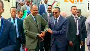 Former sworn enemies Ethiopia and Eritrea have declared end of war