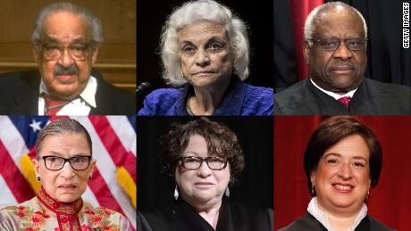 Sur les 114 juges de la Cour suprême de l'histoire des États-Unis, tous sauf 6 étaient des hommes blancs