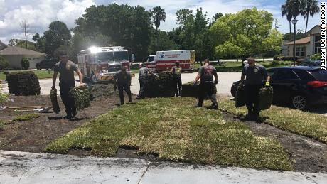 Firefighters In Florida Returned To A Man 39 S Home After Saving Him