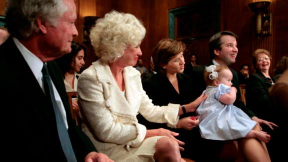 Kavanaugh is joined by family members during Capitol Hill proceedings in 2006. From left are his father, Ed Kavanaugh; his mother, Martha; his wife, Ashley; and his daughter Margaret.