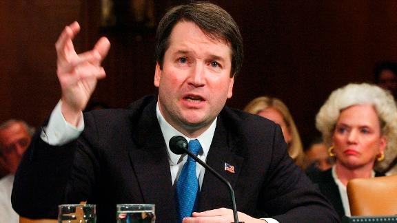 Kavanaugh appears before the Senate Judiciary Committee in April 2004.