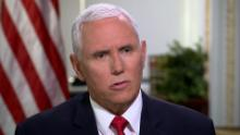 Dana will do a sit-down 3 camera interview (fs7s) with the VP.  Crews can start setting up at 12:30pm. **Crew should plan to plug in the Pence ISO shot live.  The House Gallery has given us permission to plug in to the drop behind H-137 (across from Clyburn's office). If we have trouble finding the drop just go to the Gallery and they'll walk you to it.