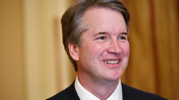 Supreme Court associate justice nominee Brett Kavanaugh attends a meeting with US Senate Majority Leader Mitch McConnell at McConnell