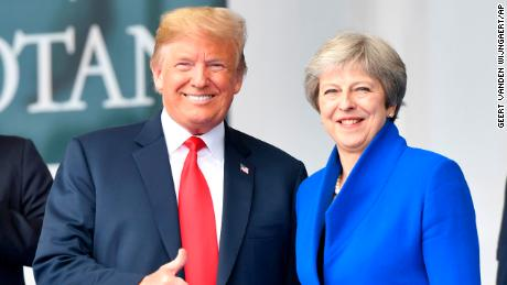 Trump and May don't address searing interview ahead of meetings