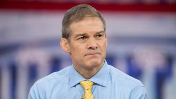 OXON HILL, MD, UNITED STATES - 2018/02/23: Representative Jim Jordan (R), Representative for Ohio's 4th congressional district, at the Conservative Political Action Conference (CPAC) sponsored by the American Conservative Union held at the Gaylord National Resort & Convention Center in Oxon Hill. Michael Brochstein/SOPA Images/LightRocket/Getty Images