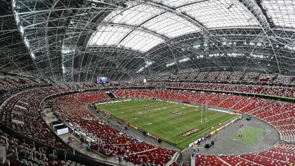 Singapore's National Stadium has a 55,000 capacity.