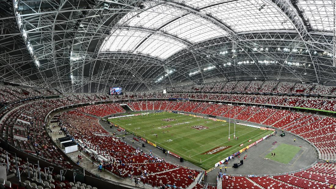 Singapore's National Stadium has a 55,000 capacity.