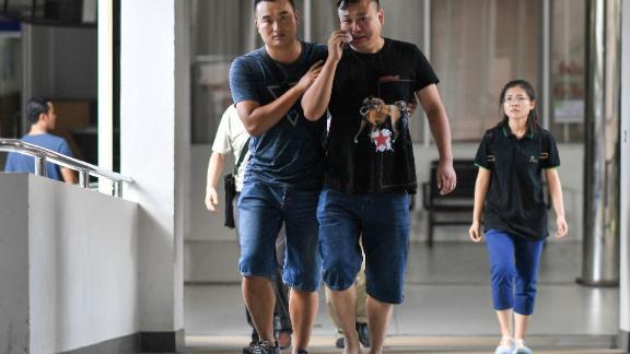 A Chinese relative cries at the Vachira Phuket Hospital in Phuket on Sunday.