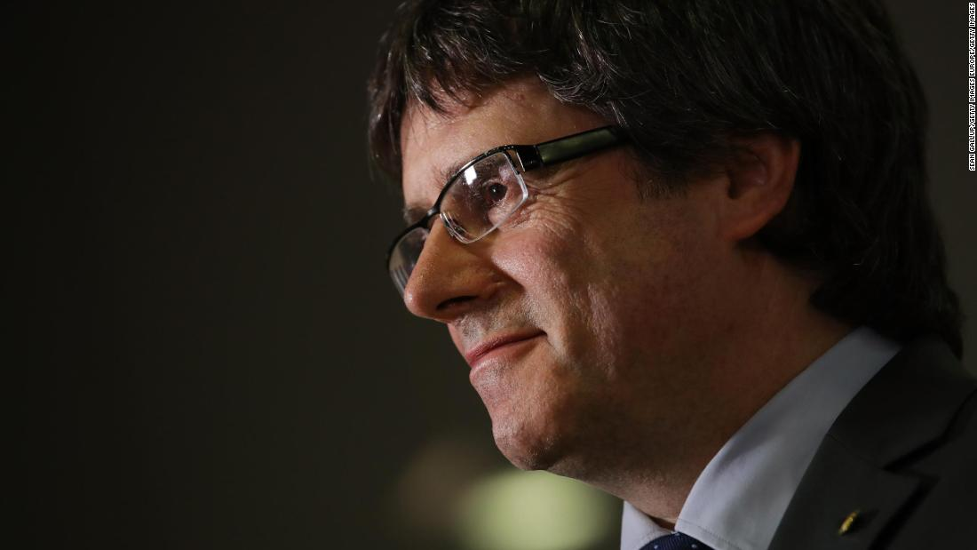 Exiled Catalan leader has Europe-wide arrest warrant dropped
