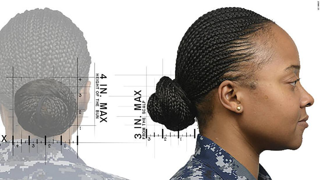 Navy Hairstyle Policy Women Can Now Wear Ponytails Braids
