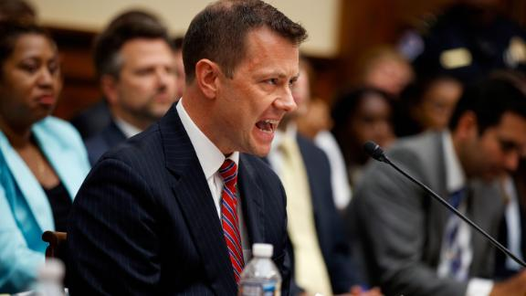 "FBI Deputy Assistant Director Peter Strzok testifies before the the House Committees on the Judiciary and Oversight and Government Reform during a hearing on ""Oversight of FBI and DOJ Actions Surrounding the 2016 Election,"" on Capitol Hill, Thursday, July 12, 2018, in Washington. (AP Photo/Evan Vucci)"