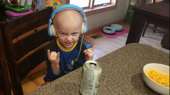 Matthias was diagnosed with a rare pediatric cancer nine months ago.