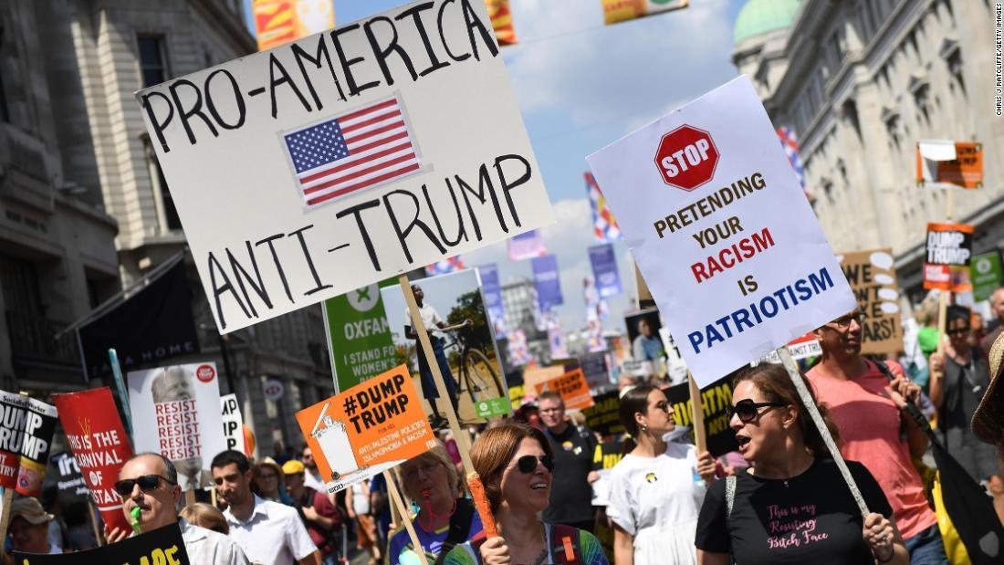Britain Against Trump T-Shirt Anti Donald Slogan Statement UK Visit Protest