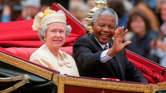 South Africa's Nelson Mandela referred to the Queen as just Elizabeth. She called him Nelson.