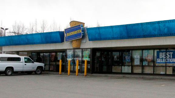 This Blockbuster video store in Anchorage, Alaska, will close on Sunday.