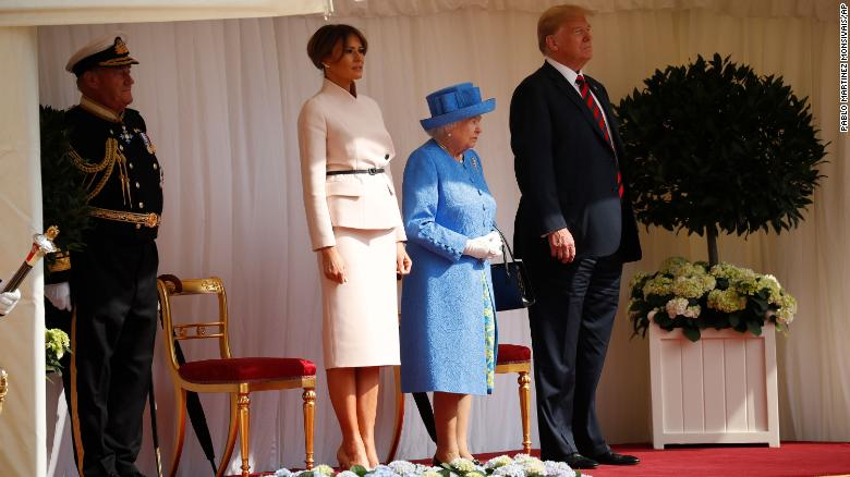 Image result for trump meets queen