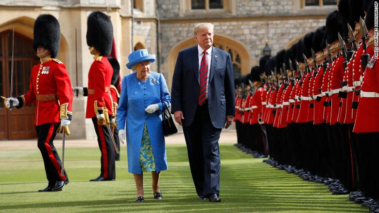 Trump criticized for his stroll with Queen