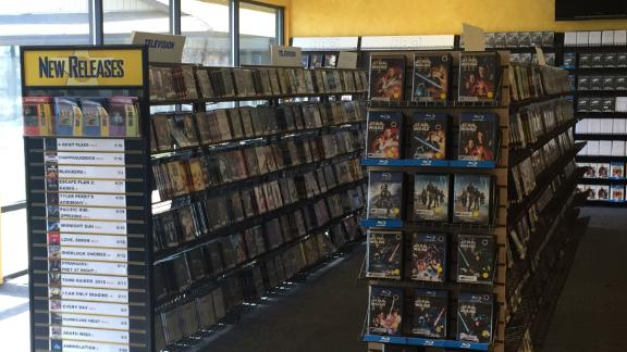 This is what it looks like inside the Blockbuster Video store in Bend, Oregon.