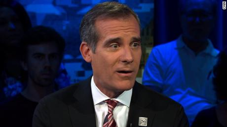 Garcetti responds to criticism on LA homeless problem (October)