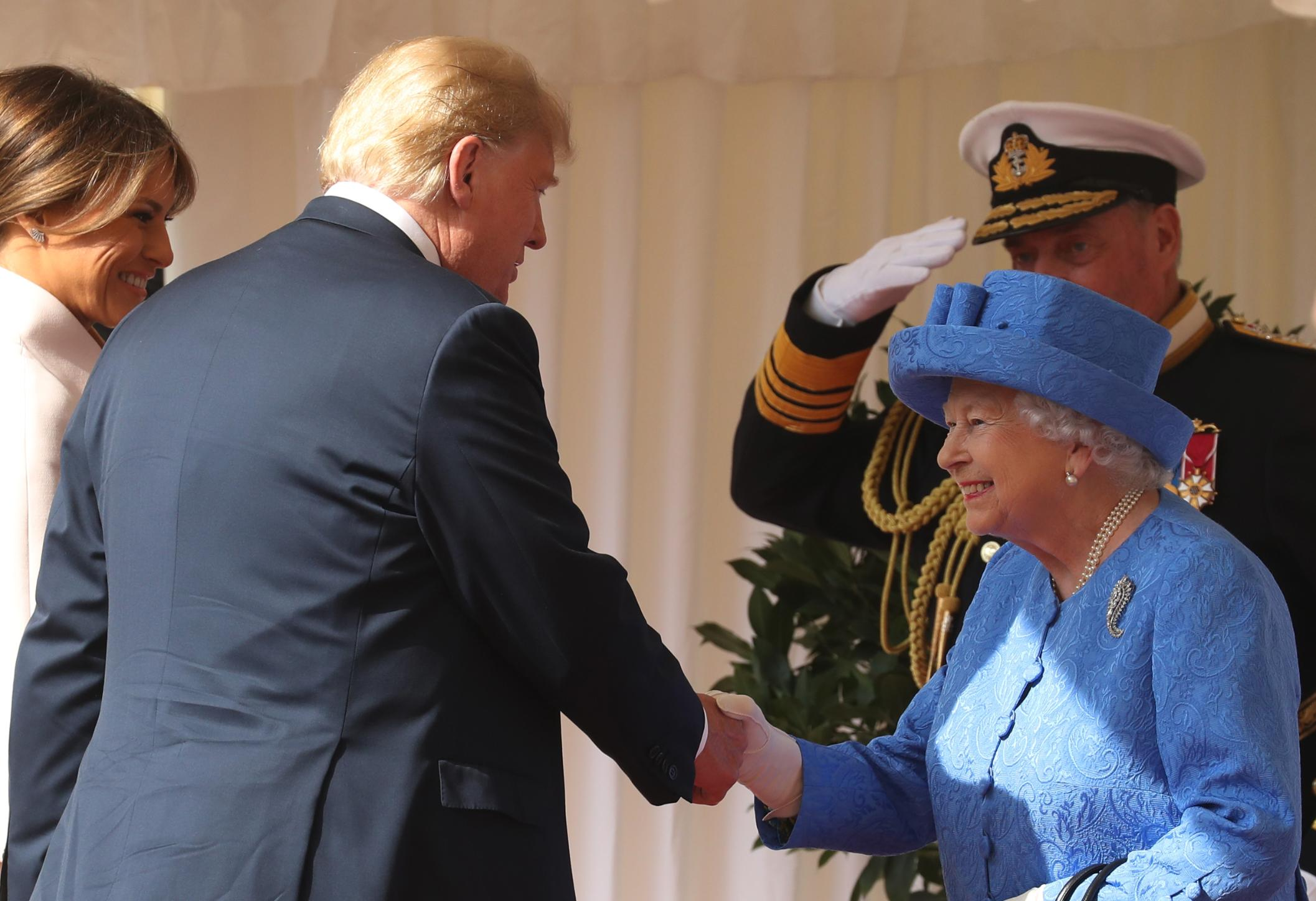 Trump criticized for his stroll with Queen - CNN Video