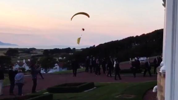 Anti-Trump paraglider