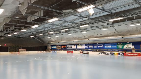 A subterranean ice hockey rink in Helsinki.