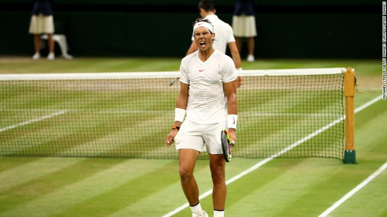 Rafael Nadal failed in his bid to win a third Wimbledon title.