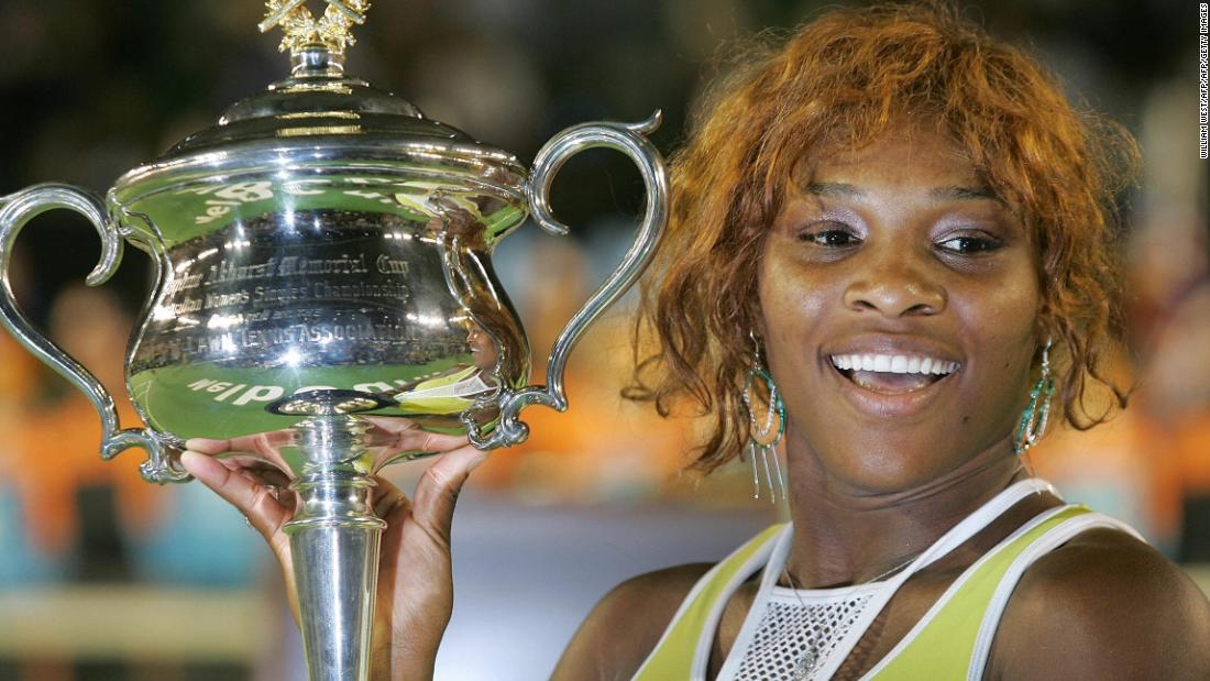 A second Australian Open title for Serena and a seventh grand slam after a 2-6 6-3 6-0 victory over compatriot Lindsay Davenport in the 2005 Melbourne final.