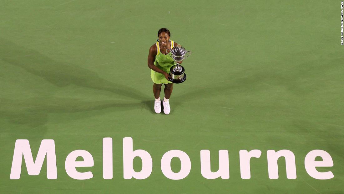Victory over Maria Sharapova in the 2007 final secures a third Australian Open title for Serena.