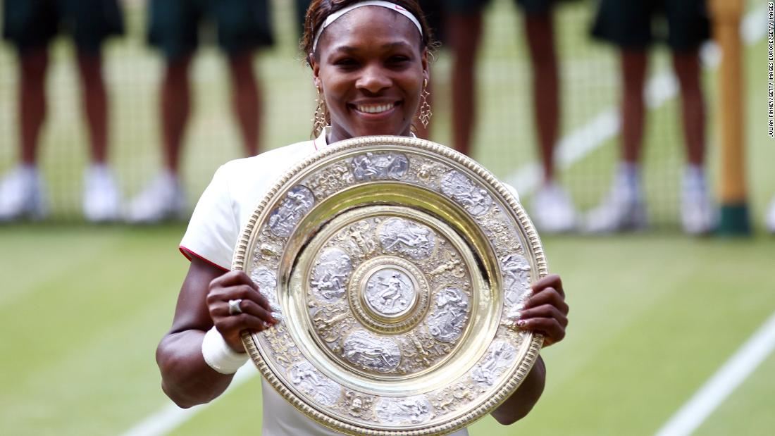 A two-year wait, but Serena notches a 14th major with yet more success at Wimbledon. She beats Poland's Agnieszka Radwanska 6-1 5-7 6-2 in the 2010 final to level with sister Venus with five Wimbledon titles.