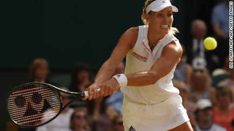 Kerber made just five unforced errors in the final
